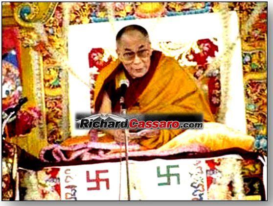 Dalai Lama with Swastikas