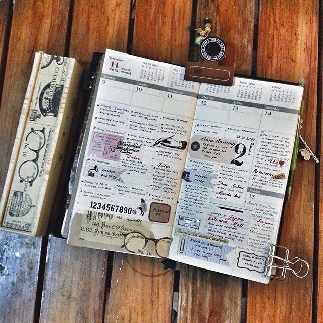 Week 46 in my tn ... #travelersnotebook #travelersnote #midoritravelersnotebook…