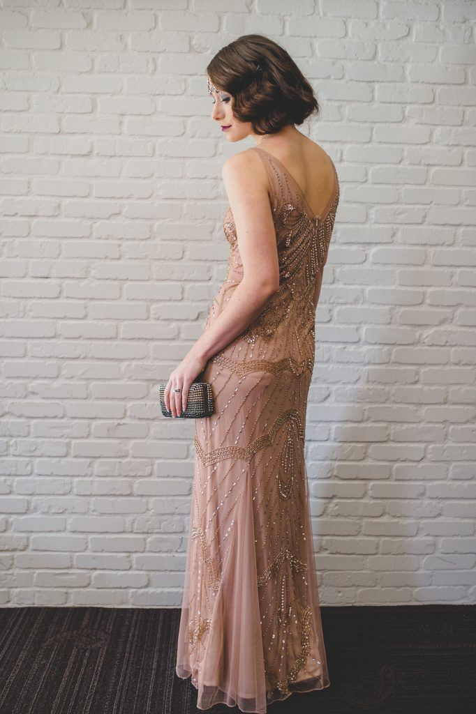 1920s style pink wedding dress | Modern Day Boardwalk Empire Bridal Styled Shoot | Edward Lai Photography5