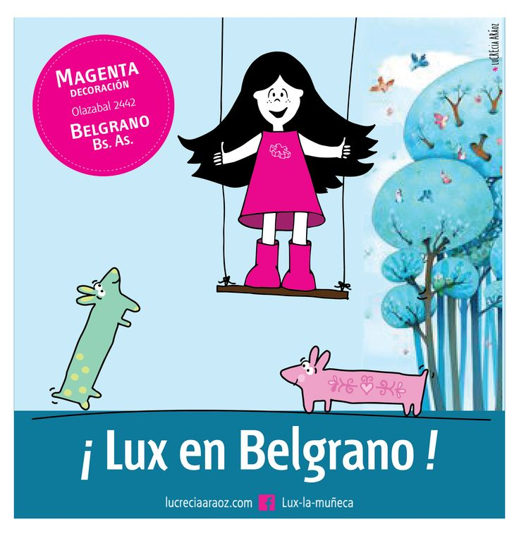 Lux la Muñeca. #ilustracion #illustration #pink #muñeca #deco #kids Facebook: lux la muñeca Ventas : tienda.citarte.net