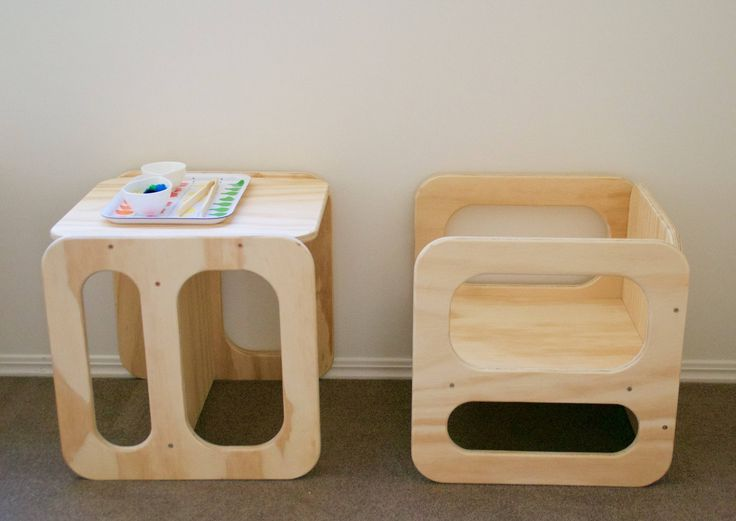 The cube chair is a multi functional piece of furniture that will be used by your growing, independent and self-confident child for years to come. The cube chair comes in raw ply - sanded and ready to prepare yourself. Two seat heights allow for it's use through to around 6 years of age The c