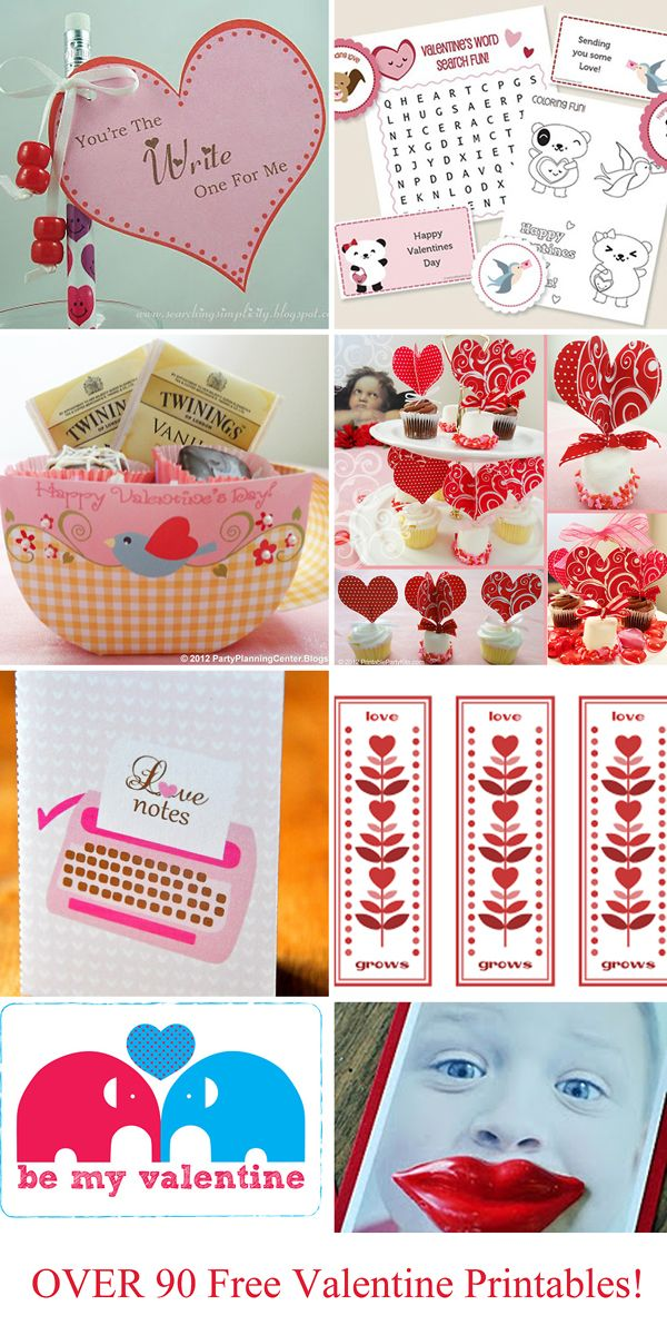 Over 90 cute Valentine ideas with links to free printables.Valentine Crafts, Valentine'S Day, Free Valentine, Valentine Day, Valentine Printables, Printables Valentine, Valentine Ideas, 90 Free, Free Printables