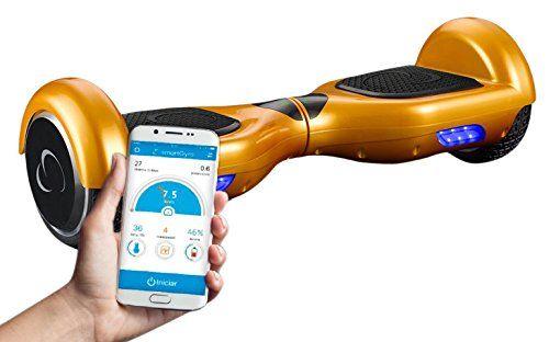 SmartGyroX2 Patinete eléctrico con batería Samsung y certificado UL2272 color oro talla 6.5