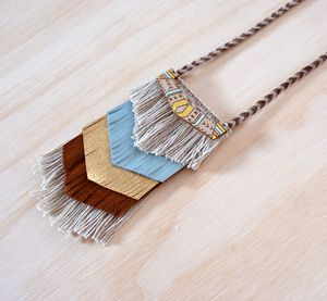 DUSKDREAM Collection Prairie Necklace : AQUA GOLD