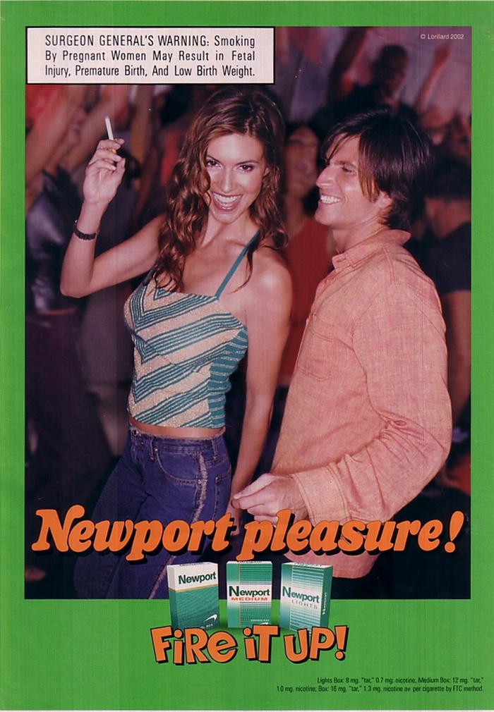 Girls smoking newport 100s interesting. Tell