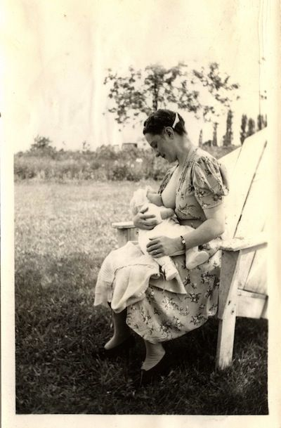 vintage postcards and amateur snapshots on breastfeeding {lb} This is kind of awesome..I always thought of women from this era to be super modest. It's a refreshing idea to see that a mother's adoration of and pride in her baby and her body - was a feeling that could be captured.