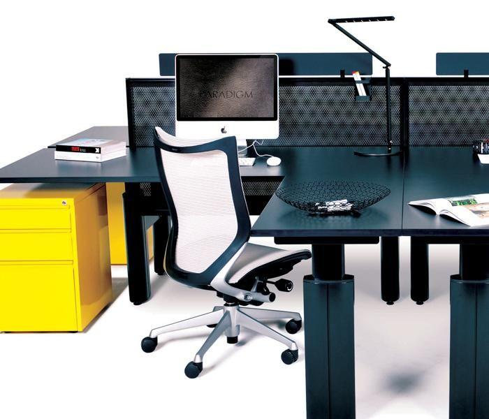 Paradigm | UCI Height adjustable workstation and desk system. Australian designed and manufactured. GECA Certified. AFRDI Blue Tick certified. uci.com.au