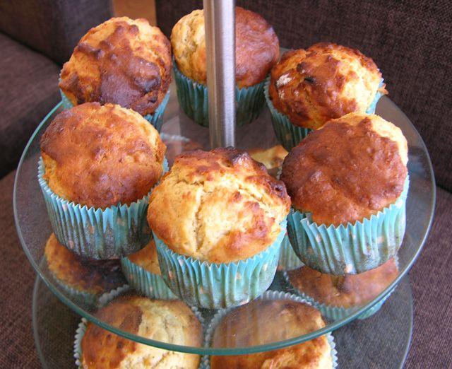 Muffins cu unt de arahide