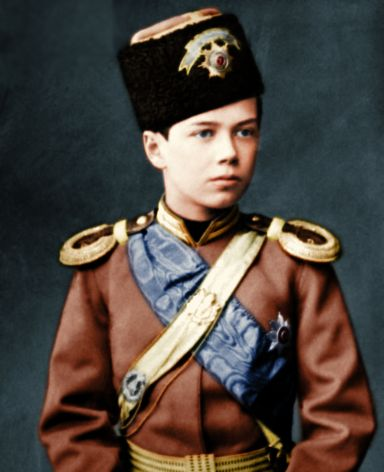 """""""Nicky""""  The future Tsar of Russia, Nicholas II   and the last Tsar. Russia had 26 Tsars over a 350 year period.  Beginning with Ivan the Terrible and ending with Nicholas II"""