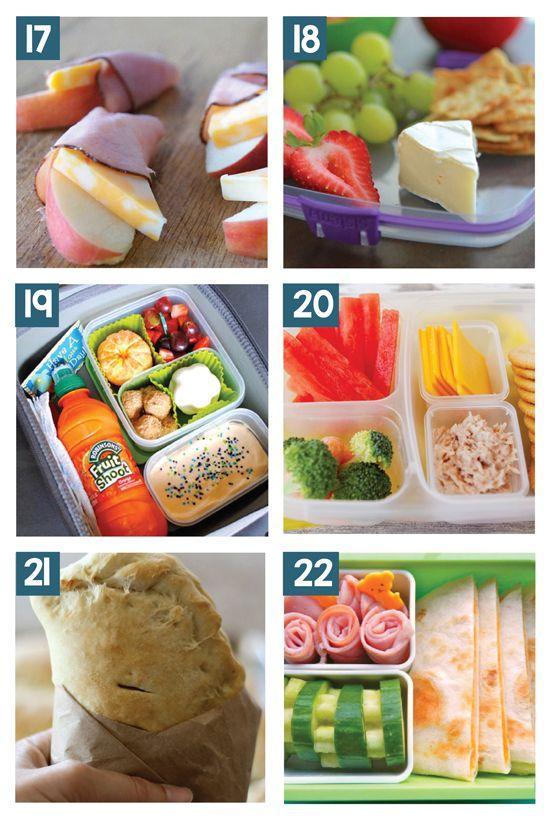 #19 http://www.ishouldbemoppingthefloor.com/2014/03/non-sandwich-lunchbox-ideas.html
