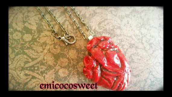 I give you my heart-Anatomical Heart Necklace by emicocosweet