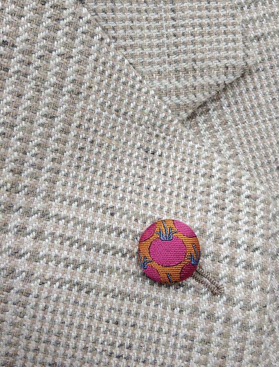 Custom Lapel Pins Mens Lapel Pin Button Lapel Pin Pink Orange