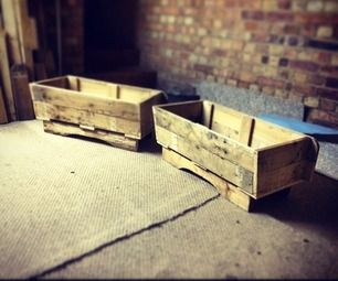 This is a run down of two pallets herb troughs myself and brother in-law made as a wedding gift for my other brother in-law.