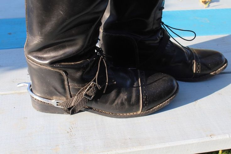 Mens Equestrian Knee High Police Boots w Spurs | eBay
