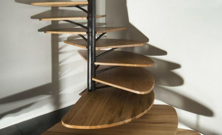 escalones de madera de estilo retro