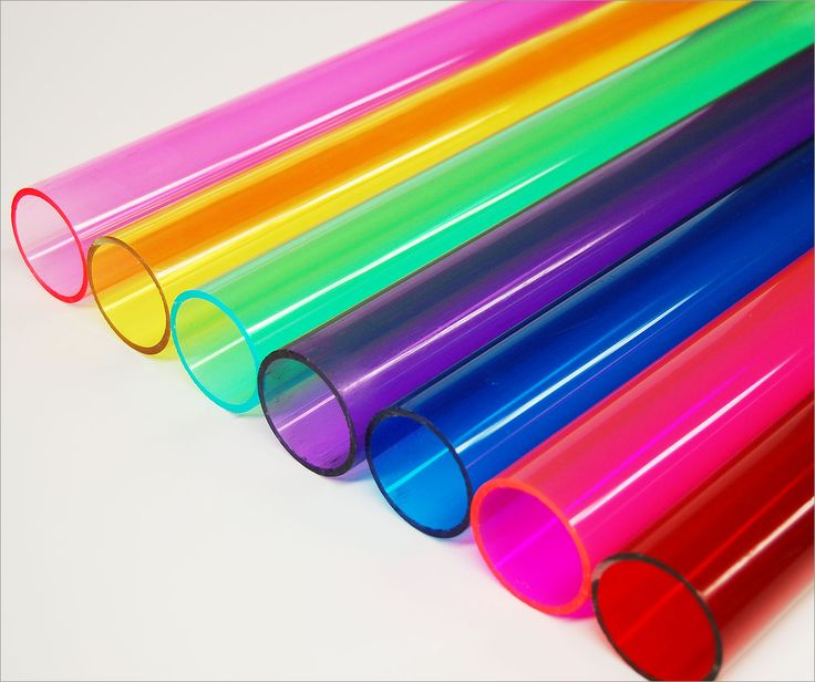 Colored Acrylic Tubes, Colored Plastic Tubes, Plastic Tubes