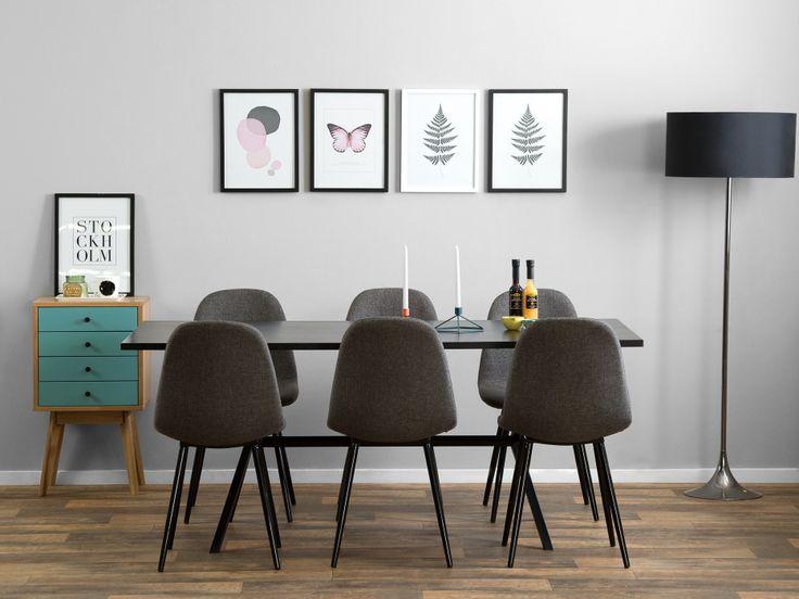 FREDAN Stol Grå/Svart - Retro chair in black and grey