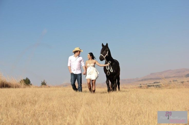 Cowboy and cowgirl..and a horse