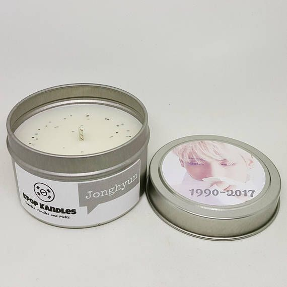 Jonghyun 4oz Scented Candle Shinee Kpop Kpop Gift Kpop Candles Scented Candles Soy Candles
