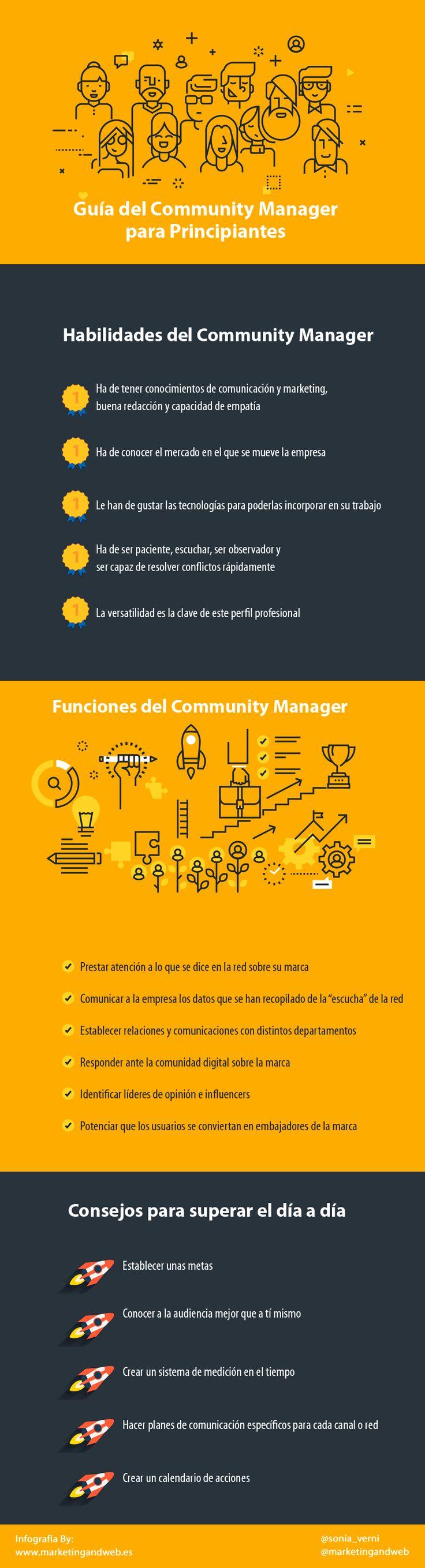 guía del community manager para principiantes  #redessociales #socialmedia #communitymanager