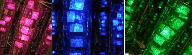 Neat lighting...Clear Vases, Add Colors, Led, Ice, Crafts Items, Colors Lights, Cubes, Amazing Cheap, Cheap Crafts