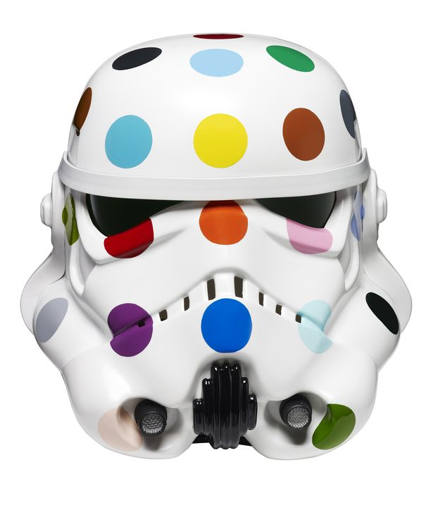'Spot Painted Art Wars Stormtrooper Helmet' Damien Hirst. | 13 Stormtrooper Helmets Redesigned By Leading Artists
