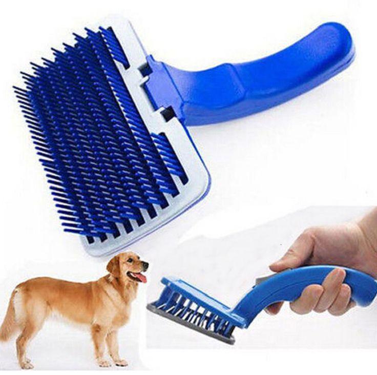 O mais baixo preço! Cat Dog Pet Grooming Self Cleaning Slicker Escova Pente Derramamento Ferramenta em Produtos para tozar cachorro de Home & Garden no AliExpress.com | Alibaba Group