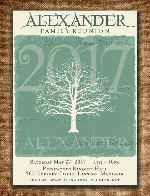 Family Reunion Save the Date  DIY Digital file Modern Reunion Available printed with envelopes too Neon Family Tree DIY PRINTABLE