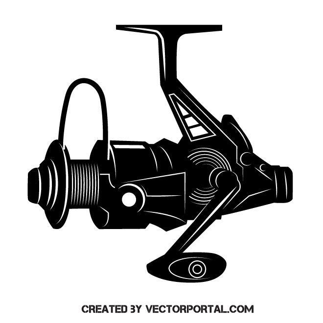 fishing reel vector clip art design elements pinterest cartoon