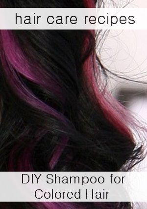 5+ Natural Shampoo Recipes: How to make shampoo for Color treated hair.
