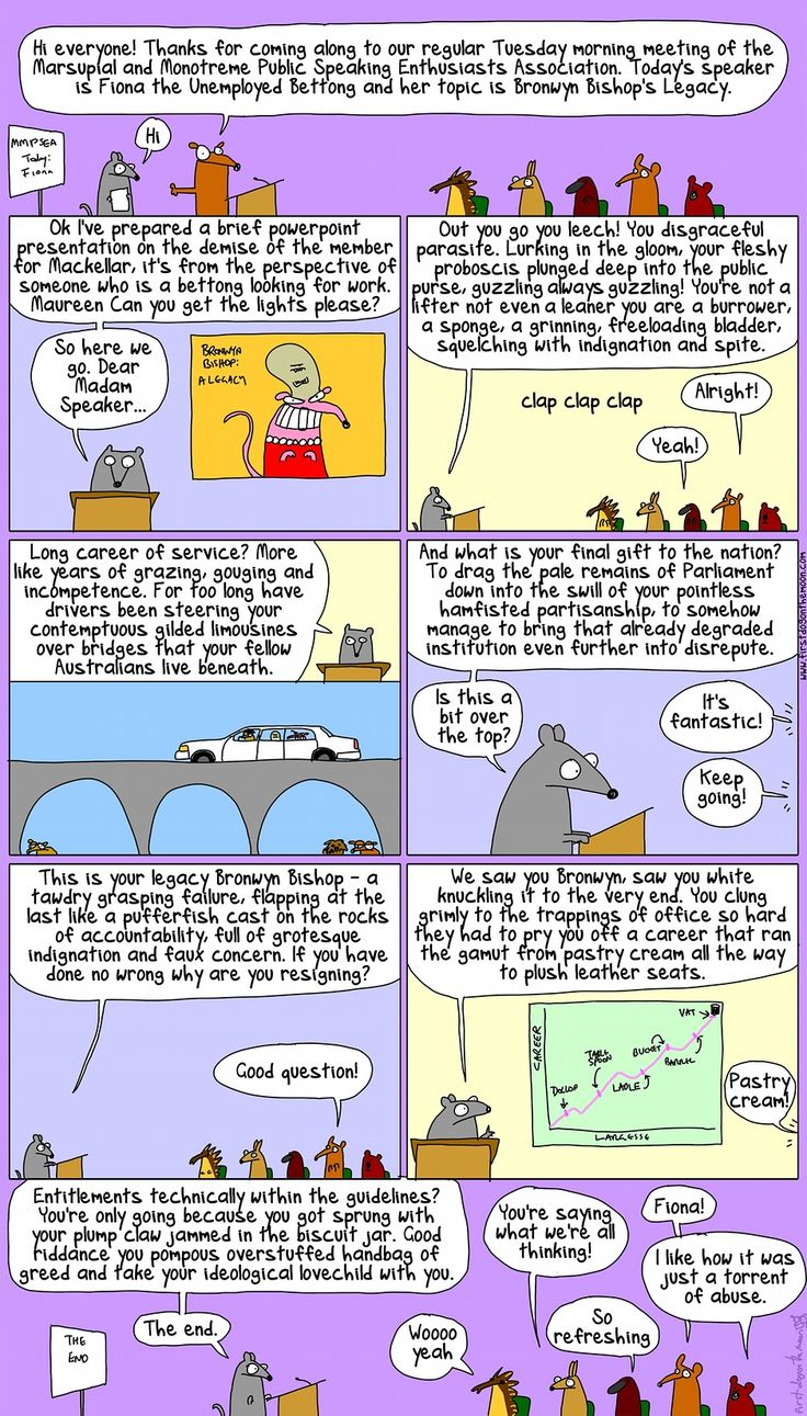 A presentation on Bronwyn Bishop's legacy from Fiona the Unemployed Bettong First Dog on the moon