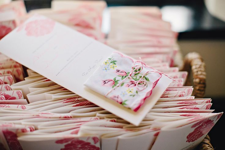 Hanky for Happy Tears on Wedding Program |  K. Holly Photography