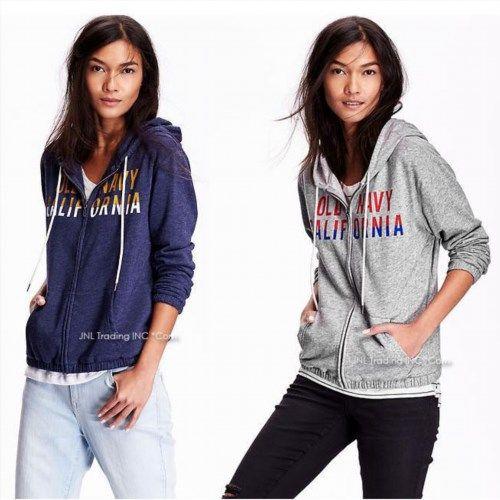 34.99$  Buy now - http://virop.justgood.pw/vig/item.php?t=6t6csz35394 - NWT Old Navy Women's Logo French Terry Zip Hoodie Lightweight Jacket sweatshirt 34.99$