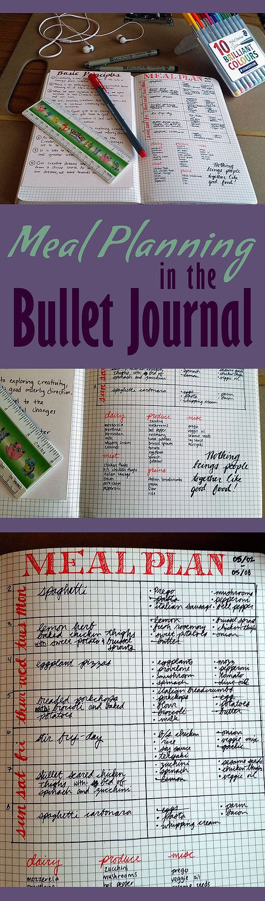 Little Coffee Fox | Meal Planning in the Bullet Journal