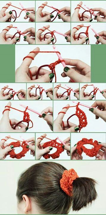 .Hair Scrunchy: use seasonal colors and add some bling and jingle