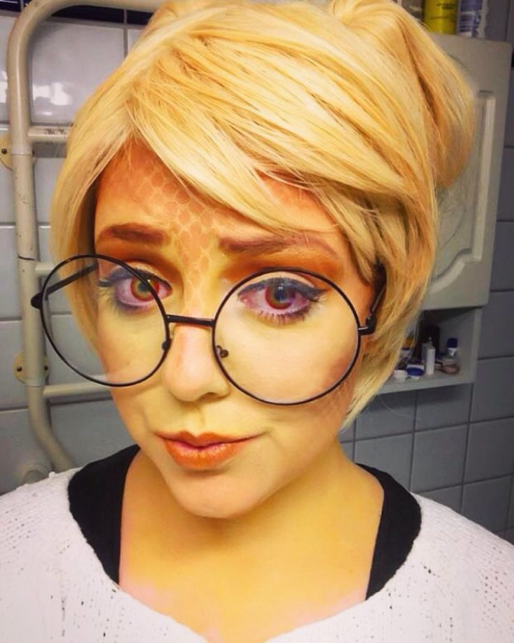 Was actually planning to use this makeup for my (possible) Alphys cosplay, bahaha. She has a video up about it too.