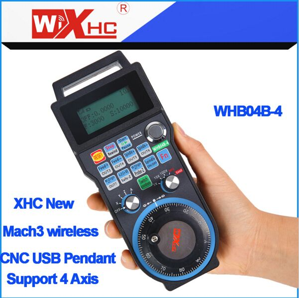 XHC new Generation 4 Axis Mach3 wireless MPG usb port CNC pendant for 4 Axis CNC Engraving machine