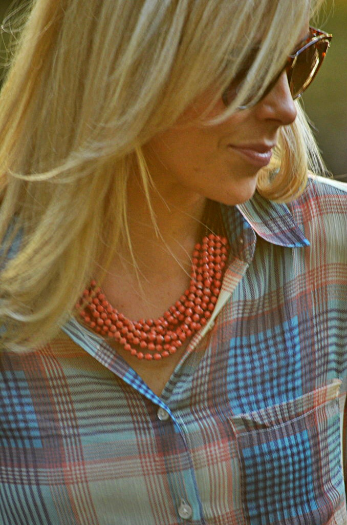 I use to be afraid to put big necklaces and bold beads with simple shirts; I am so glad I got over that!