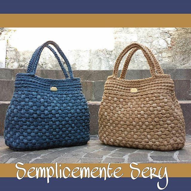 #crochet #trapillo #brand #must #madeinItaly #handmade #fattaamano #borseuncinetto #bag #handmadebag #moda #winter #love #blu #borse #seguimisullamiapaginaSemplicementeSery