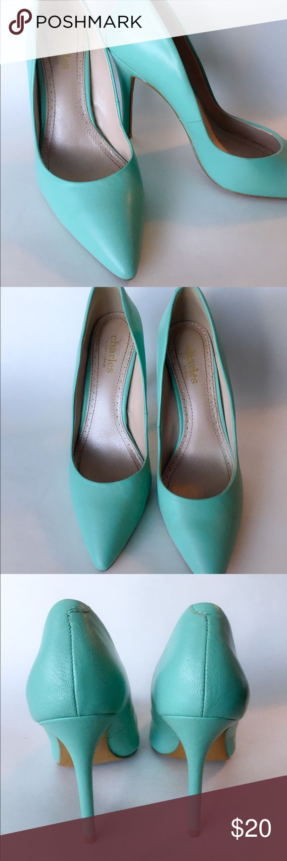 Charles David heels Teal heels Charles David Shoes Heels