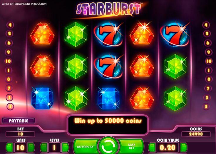 Starburst on kolikkopeli paljoista NetEnt kolikkopelit kasinopelit ja se tarjoaa ylimääräistä palkinnot mahdollisuudet, koska voitto linjat kulkevat vasemmalta puolelta oikealle puolelle ja oikealta puolelta vasemmalle puolelle. Sinä voit voittaa jopa 50000 kolikkoa kun haluat pelata tätä kaunis kasino peli verkossa.