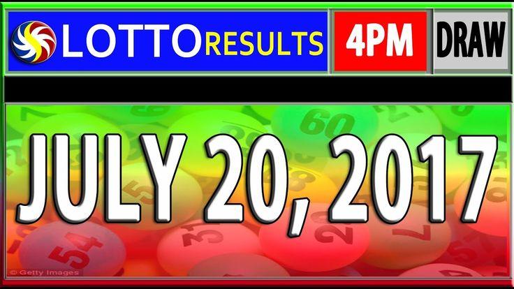 PCSO 4PM LOTTO RESULTS l JULY 20, 2017 (SWERTRES & EZ2 LOTTO)