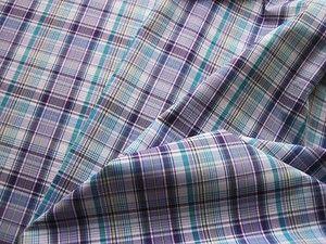 """Wild-Pupkin: огромный ассортимент ТКАНЕЙ на все сезоны!  ПЛАТЕЛЬНО-СОРОЧЕЧНАЯ ТКАНЬ """"КЛЕТКА ФИОЛЕТОВО-БЕЛО-БИРЮЗОВАЯ"""" Цена: 380 руб./м. Тонкая, гладкая ткань не только для классических рубашек, но платьев, блуз, и даже летних шорт. Ткань двухсторонняя, рисунок создан за счет переплетения разноцветных нитей. Ширина фиолетовой полосы 4см(для того, что бы понимать масштаб клетки) Производство Турция. Состав 100%хлопок. Ширина 152см"""