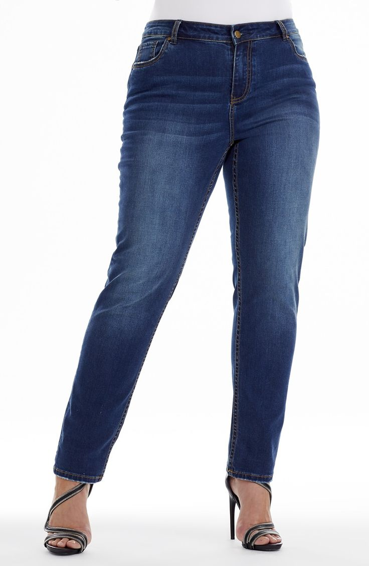 """Straight Leg 5 Pocket Jean 