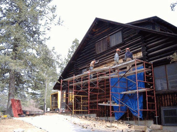 1000 Images About Log Home Restoration On Pinterest