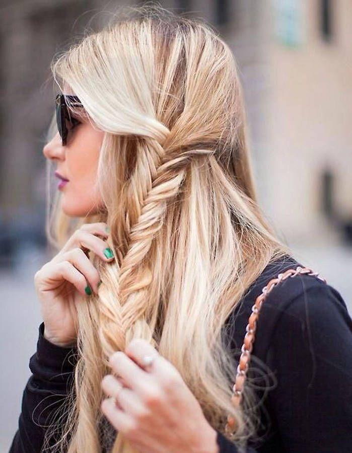 Coiffure facile pour cheveux longs - 50 coiffures faciles et rapides - Elle