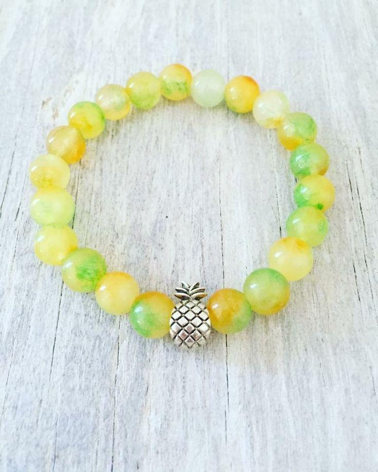 "Pineapple bracelet 8mm Kunzite  6.25"""