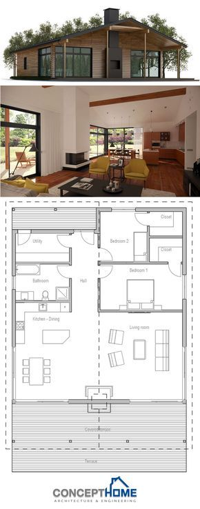 34 Best Two Bedroom House Plans Images On Pinterest