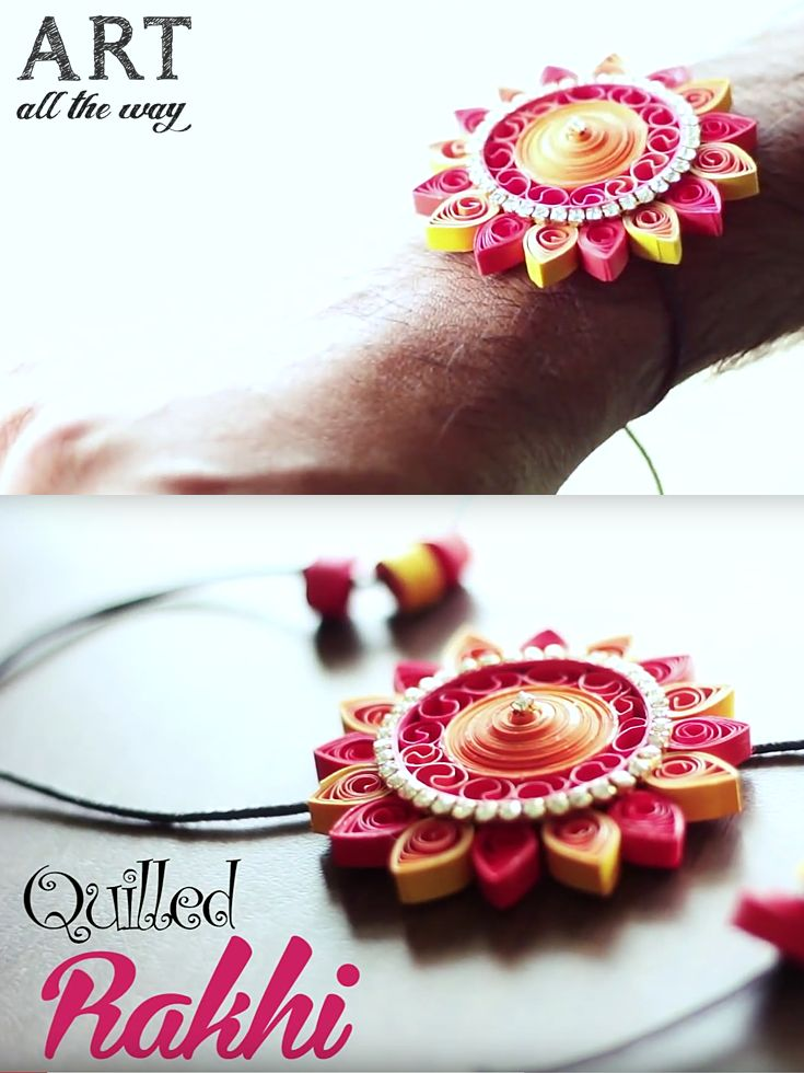 DIY  Quilled Rakhi : https://goo.gl/MJfWzo
