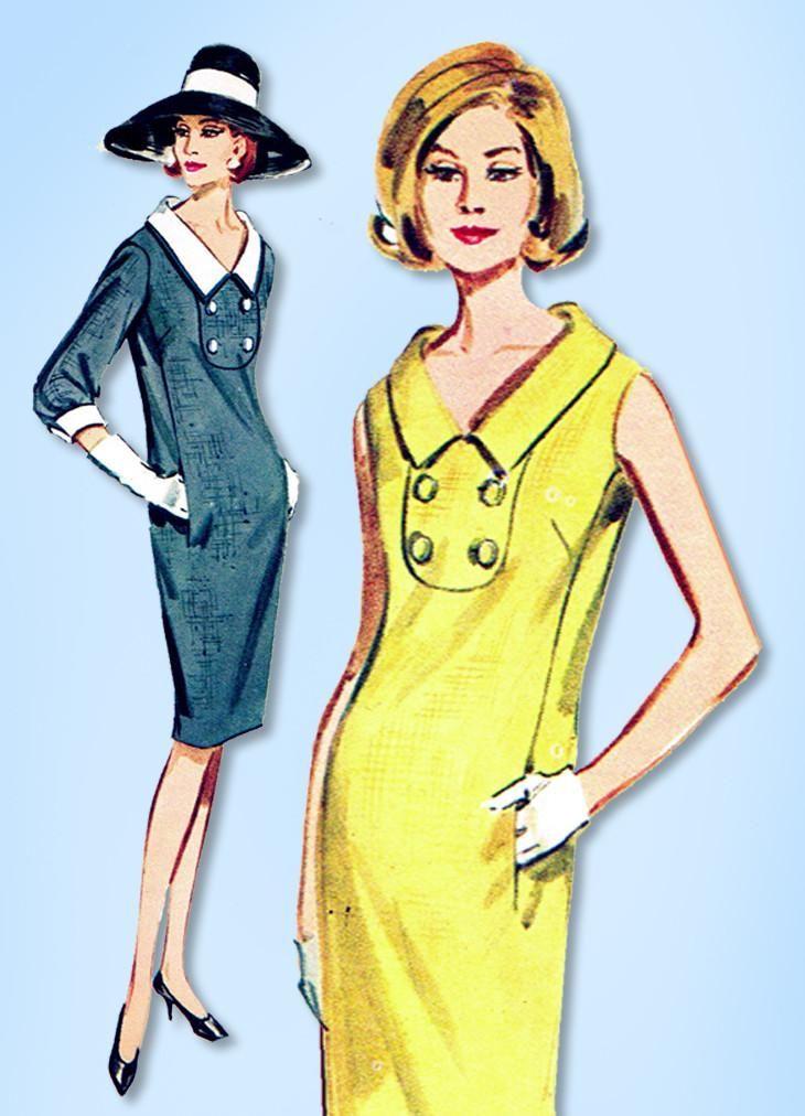 1960s Vintage Butterick Sewing Pattern 2995 Misses Boutique Sheath Dress Sz 31 B